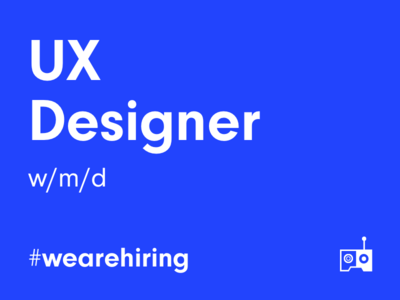 Apply as 🌟UX Designer🌟- now! futureisnow hiring design jobs designer leanux agile berlin ui ux wearehiring
