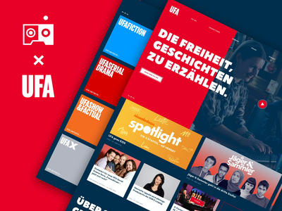 UFA Relaunch responsive cinema show tv ux ui typography webdesign webseite