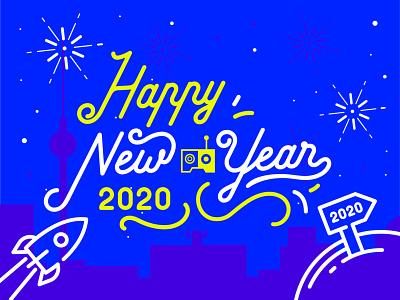 ✨Happy New Year ✨ happy new year taikonauten digital handmade 2020 berlin rebranding illustration