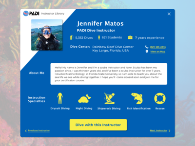 Dive Instructor Profile