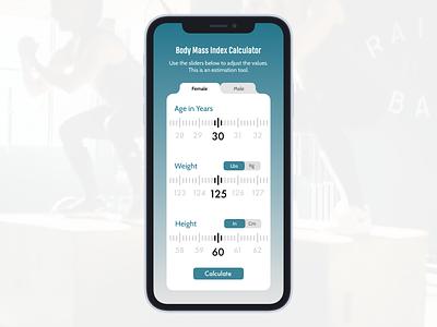 BMI Calculator app fitness health bmi application ui design daily challange daily ui 004 dailyui004 dailyuico dailyuichallenge ui daily ui sketch dailyui sketchapp