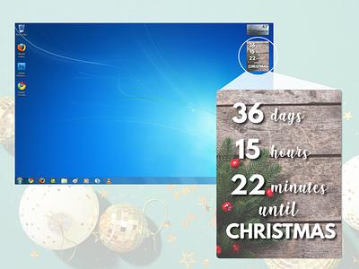 Christmas Countdown Widget timer christmas countdowntimer countdown dailyui014 webdesign dailyuichallenge daily challange ui daily ui sketch sketchapp dailyui widget