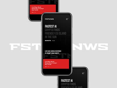 FSTNWS clean app minmal