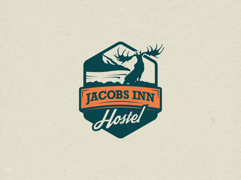 Jacobs Inn branding hiking travel adventure hostel logo