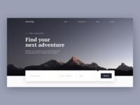 Travel Homepage Website