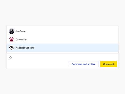 NapoleonCat – User mentions napoleoncat form ui dropdown users