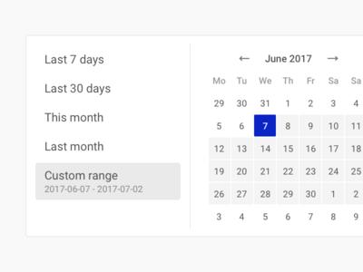 NapoleonCat – Datepicker