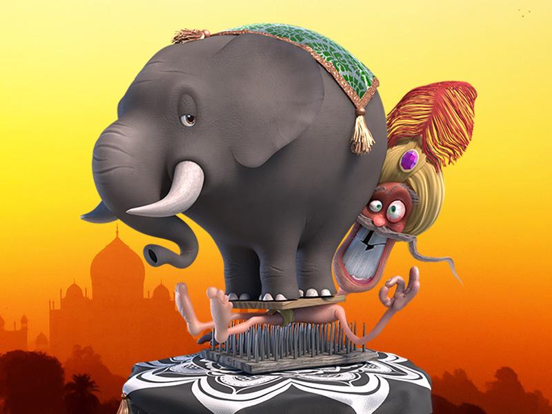 Festival of Pain 3d elephant india