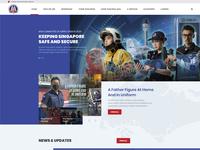 Ministry of Home Affair Website UI ministry affair home singapore government website ux design ui
