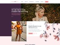 Fashionista Website UI purple pink underwear swimsuit fashion website ux design ui