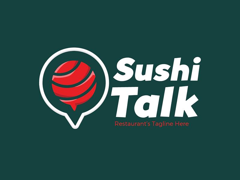 FREEBIES - Sushi Talk Logo game app chat resto food japan sushi readymade template icon logo free