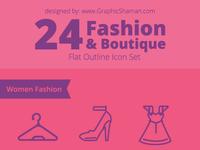Fashion and boutiqe line icon