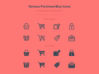 Various purchase icon