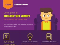 Colorful illustrated corporate flyer