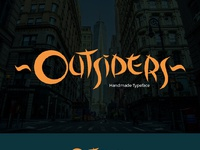 Outsiders large preview font design