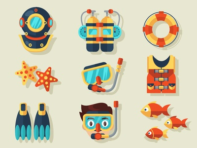 FREE Diving Vector Elements