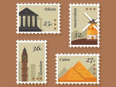 FREE 8 City Stamp