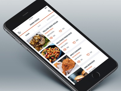 Food Guide App UI icon clean cafe restaurant review community culinary ux ui app guide food