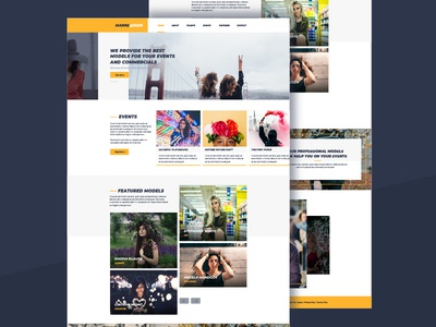 Mannequeen Website UI website colorful fun bright agency usher model ux ui minimal minimalistic clean