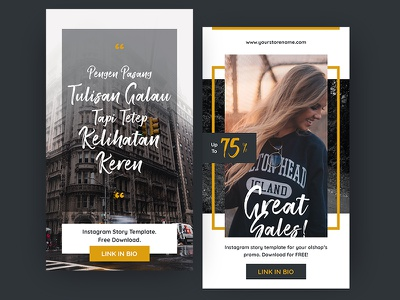 FREE Instagram Stories Templates shop promotional sales quote ui graphic media social template post story instagram