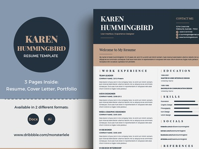 Minimal and Elegant Resume Template marketing creative multipurpose elegant minimal clean portfolio cover letter template cv resume