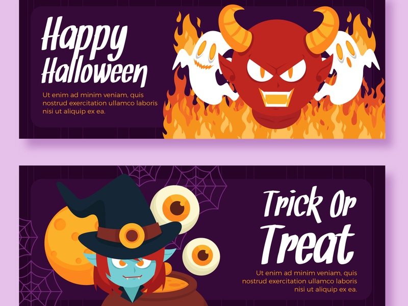 Halloween Theme Designs design banner halloween template icon graphic illustration free freepik
