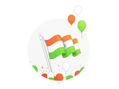 Happy Independence Day indian flag celebration design illustration web joy freedom independence india