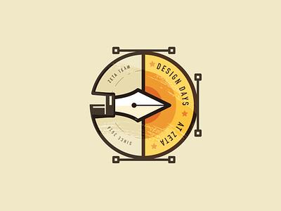 Vector flat vector ux ui branding illustration logo badge web design