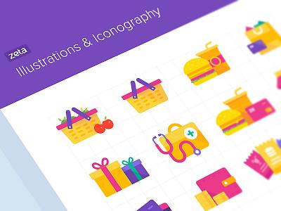 Zeta illustrations design money zeta icon app web ui vector