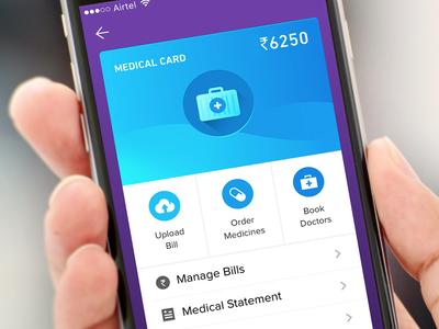 App design blue business tax doctor ux ui card zeta app medical