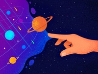Endless Possibilities star space illustration design ux ui vector flat universe hand
