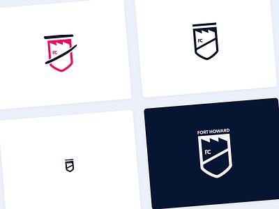 Fort Howard Football Club Logos brand identity brand design logodesign logo design football soccer branding logo