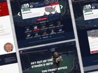 Interactive Football League Marketing Page