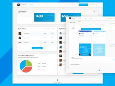 BrandKenekt Brand Dashboard retailers brands sharing content creation social