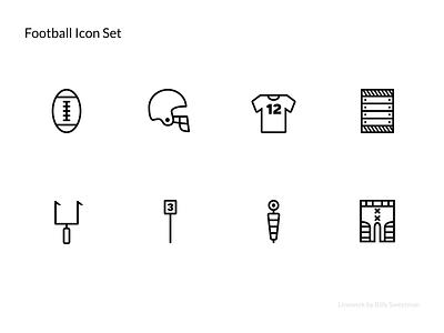 Linewerk Football Icon Set thin line thin sports linewerk set icon football