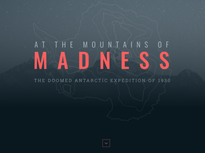 At The Mountains of Madness Cover mountains antartica illustration lovecraft mocktober2018 mocktober design web