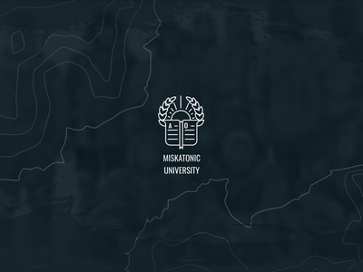 Miskatonic University Icon Logo mocktober2018 mocktober design icon university education lovecraft branding logo