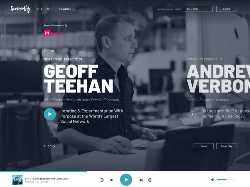 Seaworthy Site Concept podcasting audio player audio design web podcast