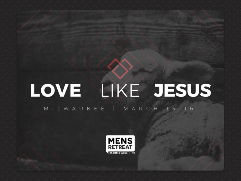 Mens Retreat Postcard icon milwaukee church faith design men retreat jesus branding logo post card