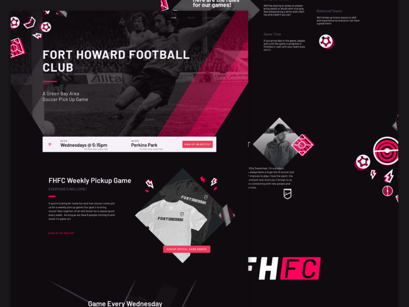 Fort Howard Football Club Home Page ui sport patterns pitch game futbol football soccer sports page home homepage