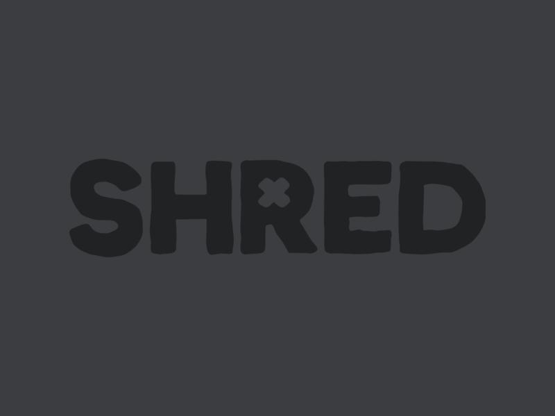 Shred Logo logotype game video snowboarding branding