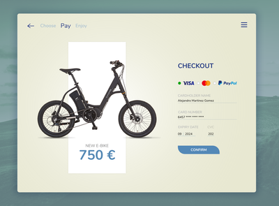 #DailyUI 02 / E-bike Checkout