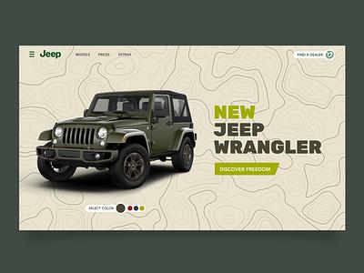 #DailyUI 03 / Jeep landing concept web branding website ux ui typography uiux design daily 100 challenge app