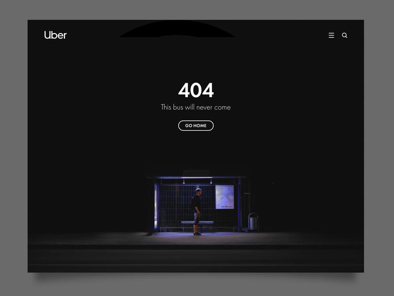 Daily UI 8  / Uber 404 proposal web minimal website branding ux ui uiux design daily 100 challenge