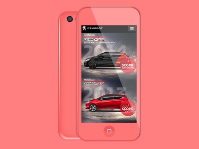Peugeot GTi is back css html5 video background layout gti big typography ux design car mockup peugeot design website