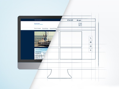 Teaser banner for upcoming website. outline sketch prototyping website bank online banner teaser