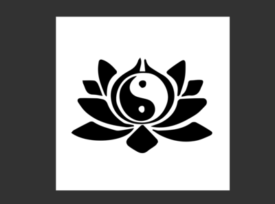 Ying Yang Lotus Custom Icon