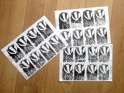Stop the cull stickers handmade badger stickers linocut illustration stop the cull