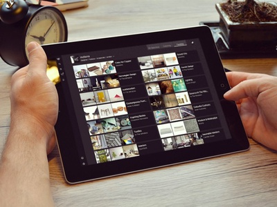 In the Window curation in the window tablet