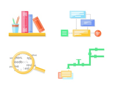 Academy nomnom microsite illustrations